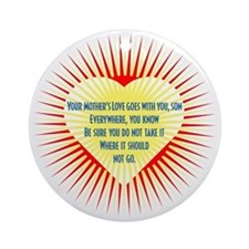 mothers-love-heart2 Round Ornament