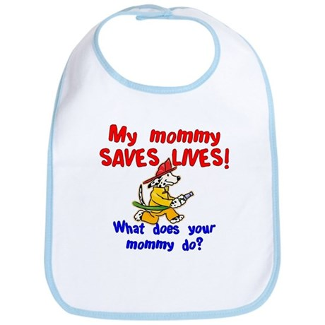 Firefighter Mommy Bib