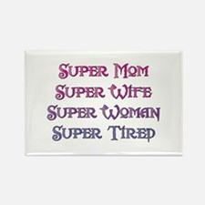 Super Tired Rectangle Magnet (10 pack)