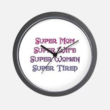 Super Tired Wall Clock