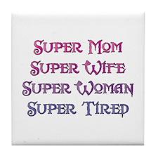 Super Tired Tile Coaster