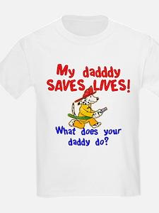 Fireman Daddy Kids T-Shirt