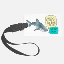 Sharks Are Friends Alternate Luggage Tag
