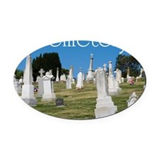 CAL2_COVER_Cemetery_040 Oval Car Magnet