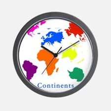 Continents-10x10_apparel Wall Clock