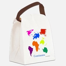 Continents-10x10_apparel Canvas Lunch Bag