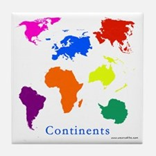 Continents-10x10_apparel Tile Coaster