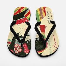 Okura-Anime-Japanese-Beauty-Woodblock-i Flip Flops