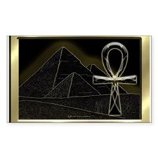 Ankh Rectangle Decal