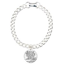 Greene Action Quote Charm Bracelet, One Charm