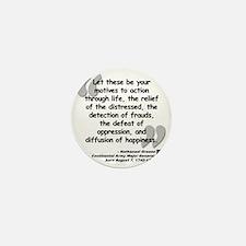 Greene Action Quote Mini Button
