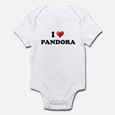 PANDORA SHIRT I LOVE PANDORA  Infant Bodysuit