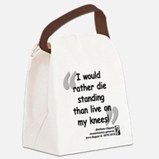 Zapata Standing Quote Canvas Lunch Bag
