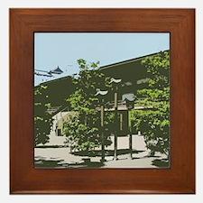 Japan Lanterns-Papercut Framed Tile