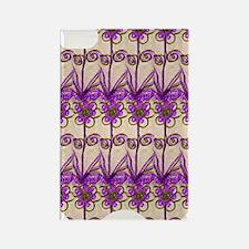 purplefleursiphone4casecp Rectangle Magnet