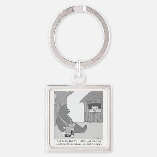Big Bad Wolf Square Keychain
