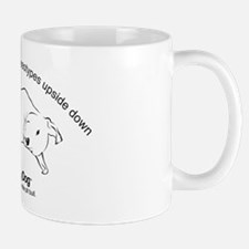 upside down dog Mug