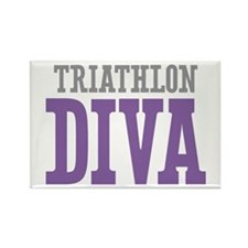 Triathlon DIVA Rectangle Magnet