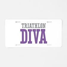 Triathlon DIVA Aluminum License Plate