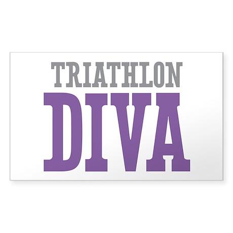 Triathlon DIVA Sticker (Rectangle)