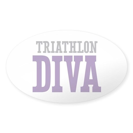 Triathlon DIVA Sticker (Oval)