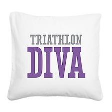 Triathlon DIVA Square Canvas Pillow