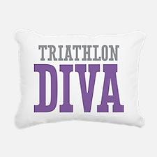Triathlon DIVA Rectangular Canvas Pillow