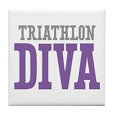 Triathlon DIVA Tile Coaster