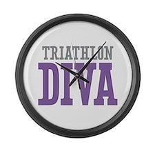 Triathlon DIVA Large Wall Clock