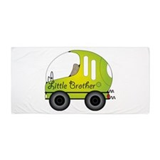 Little Brother green Bubble car Beach Towel