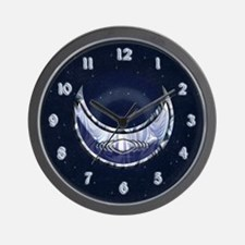 Upright Crescent  Wall Clock