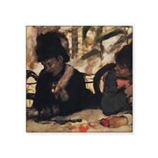 "degas at the cafe Square Sticker 3"" x 3"""