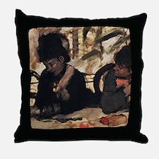 degas at the cafe Throw Pillow