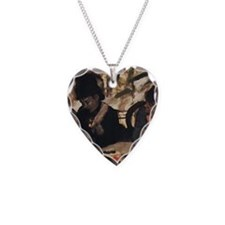 degas at the cafe Necklace Heart Charm