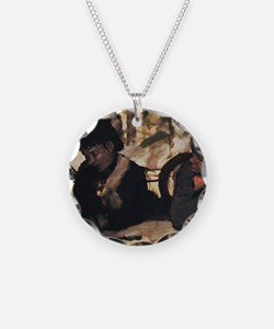 degas at the cafe Necklace