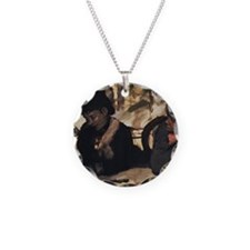 degas at the cafe Necklace Circle Charm