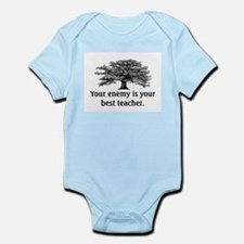 ENEMY IS YOUR TEACHER Infant Bodysuit