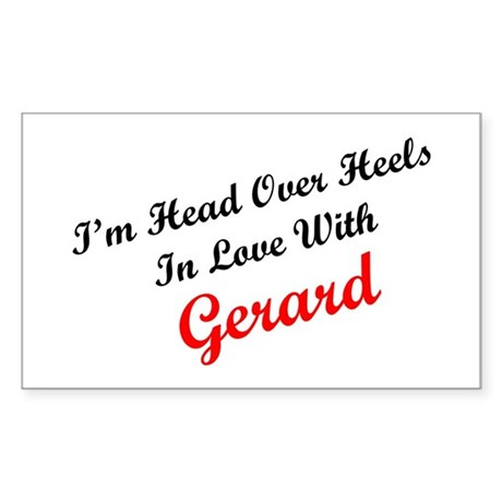 In Love with Gerard Rectangle Sticker