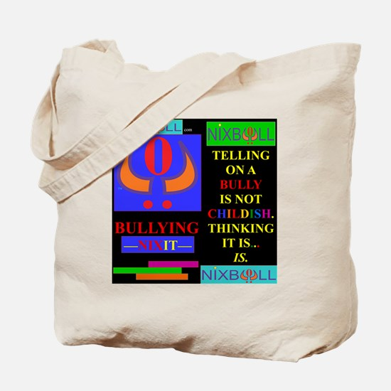 CHILDISH BLK. Tote Bag