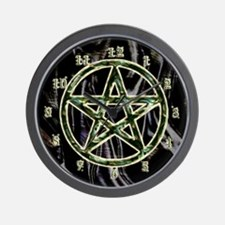 Pentacle or Pentagram  Wall Clock