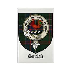 Sinclair Clan Crest Tartan Rectangle Magnet (10 pa