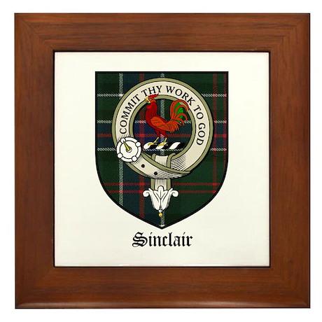Sinclair Clan Crest Tartan Framed Tile
