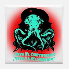 Viva El Chethulhu Viva La Rlyejhcion  Tile Coaster
