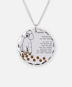 footprints-poodle standard c Necklace