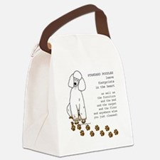 footprints-poodle standard copy.g Canvas Lunch Bag