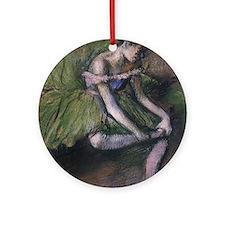 degas ballet green Round Ornament