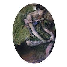 degas ballet green Oval Ornament