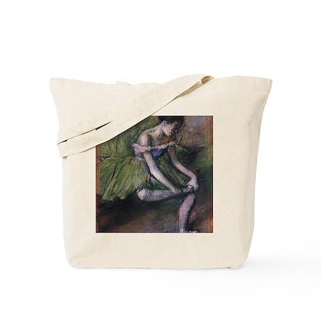 degas ballet green Tote Bag