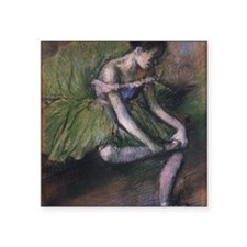 "degas ballet green Square Sticker 3"" x 3"""