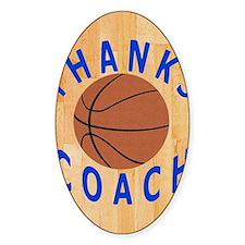 Thank You Basketball Coach Gift iPa Decal